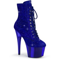 Adore-1020CHRS - Royal Blue Rhinestones Chrome