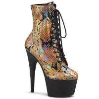 Adore-1020SP - Gold Hologram Snake Print Black Matte