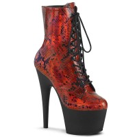 Adore-1020SP - Red Hologram Snake Print Black Matte