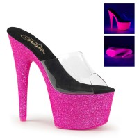 ADORE-701UVG - Clear Neon Baby Pink Glitter
