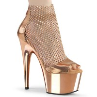 Adore-765RM - RGold Metallic Pu RS Mesh Chrome