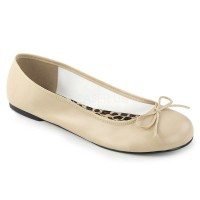 ANNA-01 - Cream  Faux Leather