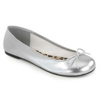 ANNA-01 - Silver  Faux Leather
