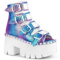 Ashes-70 - Purple Multi Iridescent Vegan Leather
