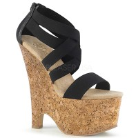 Beau-669 - Black Faux Le Cork Wrapped