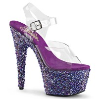 BEJEWELED-708MS - Clear Purple Multi Rhinestones