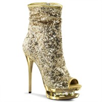 Blondie-R-1008 - Gold Sequins/Gold Chrome