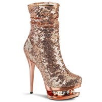 Blondie-R-1009 - Rose Gold Sequins Chrome