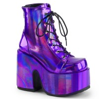 Camel-203 - Purple Hologram Vegan Leather