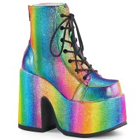Camel-203 - Rainbow Iridescent Vegan Leather
