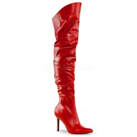 Classique-3011 - Red Faux Leather