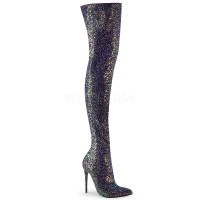 Courtly-3015 - Black Multi Glitter
