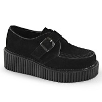 CREEPER-118 - Black Vegan Suede