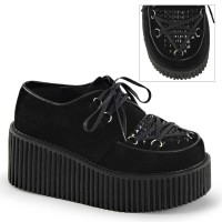CREEPER-216 - Black Vegan Suede