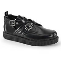 CREEPER-615 - Black Leather