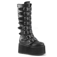 Damned-318 - Black Vegan Leather SPECIAL - Size 9
