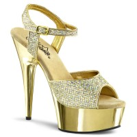 Delight-609G - Gold Multi Glitter/Gold Chrome