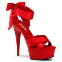 Delight-668 - Red Satin/Red