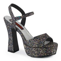 Dolly-09 - Black Multi Glitter