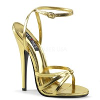 Domina-108 - Gold Metallic Pu