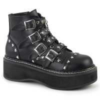 EMILY-315 - Black Vegan Leather