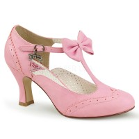 Flapper-11 - Pink Faux Leather