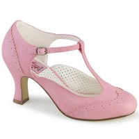 Flapper-26 - Pink Faux Leather