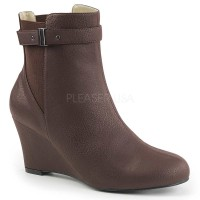 Kimberly-102 - Brown Faux Leather