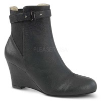 Kimberly-102 - Black Faux Leather
