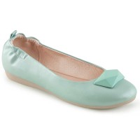 Olive-08 - Aqua Faux Leather