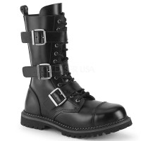Riot-12BK - Black Leather