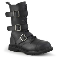 Riot-12BK - Black Vegan Leather