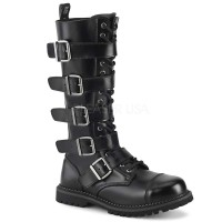 Riot-18BK - Black Leather