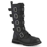 Riot-18BK - Black Vegan Leather
