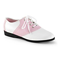 SADDLE-50 - Baby Pink White Pu