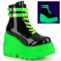 Shaker-52 - Black Patent UV Neon Green