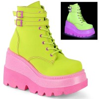 Shaker-52 - Lime Reflective Vegan Leather Pink