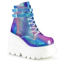 Shaker-52 - Purple Multi Iridescent Vegan Leath