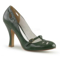 Smitten-20 - Forest Green Faux Leather