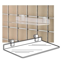 Accessories Ss-02 - Clear Acrylic Gridwall Shelf