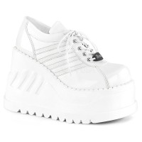 Stomp-08 - White Pat Vegan Leather