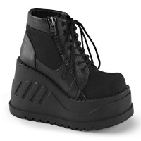 STOMP-10 - Black Canvas Vegan Leather