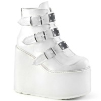 Swing-105 - White Vegan Leather