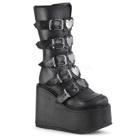 Swing-230 - Black Vegan Leather - Size 12 SPECIAL