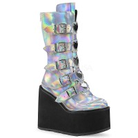 Swing-230 - Silver Hologram Vegan Leather