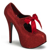 Bordello Teeze-04G - Red Mini Glitter