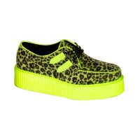 Demonia V-Creeper-507Uv - Cheetah Fur-UV Lime