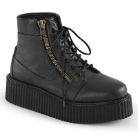V-CREEPER-571 - Black Vegan Leather