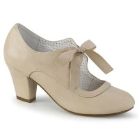 Wiggle-32 - Beige Faux Leather