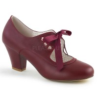 Wiggle-32 - Burgundy Faux Leather